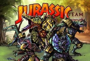 Jurassic Team from Hungry Troll by LANZAestudio