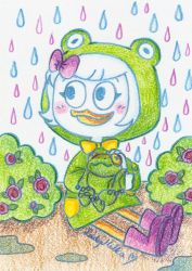 Webby and frog by LadyMilka