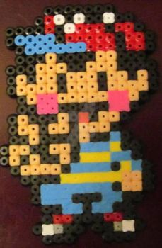 Perler Bead Earthbound/Mother 2 Ness by SonicDragon26