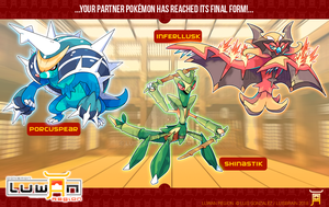 Luwan Starters FINAL STAGE Evolutions! by LuisBrain