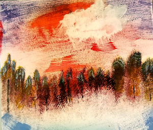So, I Tried to Make a Bob Ross Painting by Sleepy-Stardust