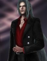 Sephiroth in red by akonyah
