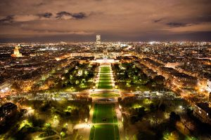 paris from eiffel  tower by jimbaba