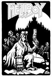 Hellboy Lineart by alexsollazzo