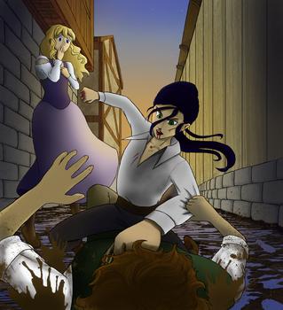 Alley fight by VelaNoon