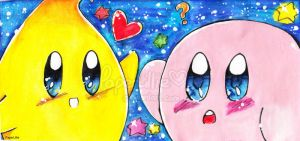 Luma and Kirby by PaperLillie