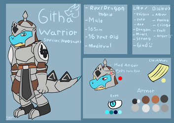 Githa Warrior (Old Reference Sheet) by FanDragonBrigitha