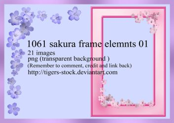 1061 Sakura Frame Elemnts 01 by Tigers-stock