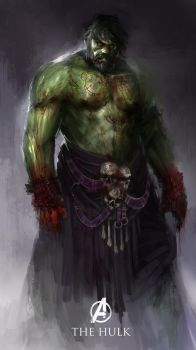 Hulk the bloodied titan by theDURRRRIAN