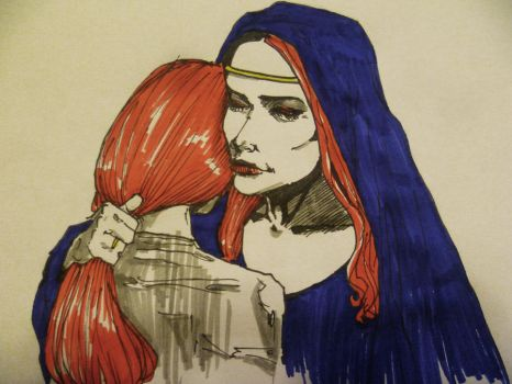 ASOIAF / Mother and child sketch by psychicyouth