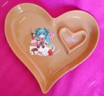 Hand painted Vocaloid heart-shaped ceramic dish by SimonaZ