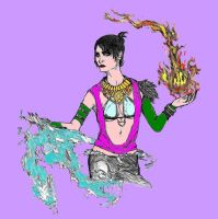Morrigan COLOR by SilverLeon88
