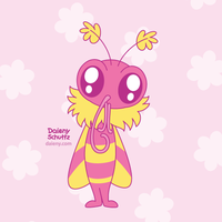 Pink Moth by Daieny