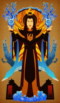 Fire Lord Azula by skybison