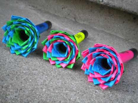 Duct Tape Flower Highlighters by SharpieObsessed