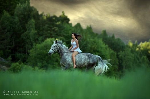 Riding Out The Storm by Hestefotograf