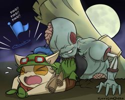 Zombie Ryze and Teemo (Happy Harrowing!) by KittyConQueso