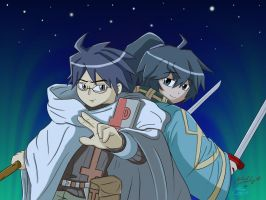 Log Horizon - Shiroe and Soujiro by CyberPikachu