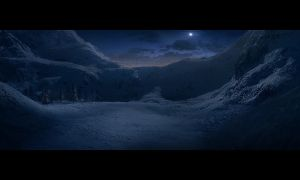 snowscape mattepainting by regnar3712