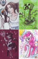 Youmacon Sample Commissions by alex-heberling