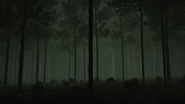 Eerie light-forest by Zlain81