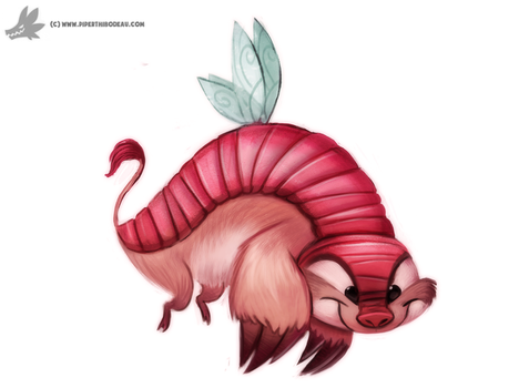 Day 845# Faerie Armadillo by Cryptid-Creations