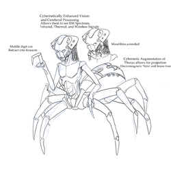 Anansi the Spider Alien by IA3