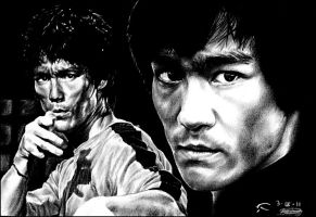 Bruce Lee by ladarkfemme