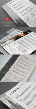Photographer Resume Photoshop PSD Template by CursiveQ-Designs