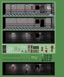 West hall (five nights at freddy's) by jebo14