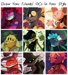 Draw Your Friends' OCs in Your Style by ElliEspy