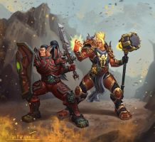 Blood elf Paladins by VanHarmontt