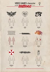 Video Games character personal tattoos - 02 by newrobotz