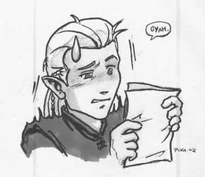 Legolas discovers fanfics by Pika-la-Cynique