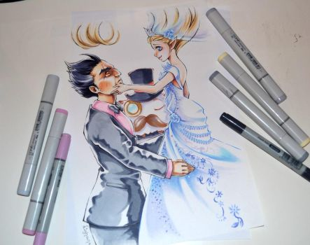 Janna and Darius's Wedding by Lighane