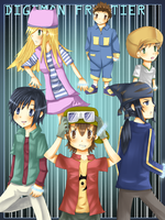 Digimon Frontier Team by Whitewolfgirl