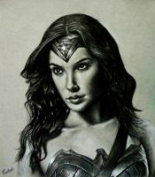 Gal Gadot  aka Wonder Woman portrait by rak78374