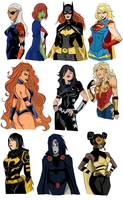 DC Gals by Jeanbiscuit