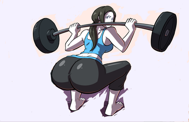 Wii Fit Trainer's HEAVY BOTTOM Training by JustafunGUY23