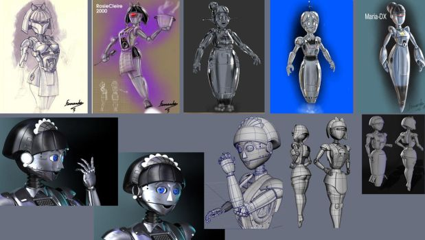 robo-maid-desing and 3d by fernandofaria
