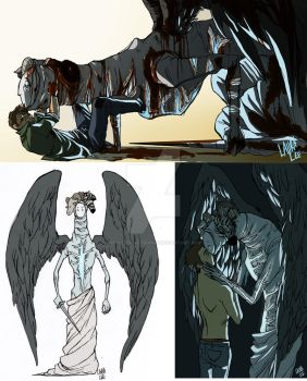 True form Castiel concept by spacerocketbunny