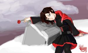 [RWBY] Ruby at Summer's Grave by JanusL