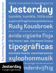 Font: JESTERDAY - demo by jelloween