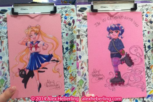 Glass City Con 2014 Sketch Cards by alex-heberling
