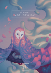 Mother Owl by oshRED