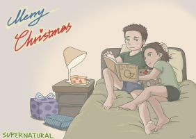 Supernatural Christmas Card by SilasSamle