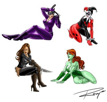 DC Girls by Drawingremy