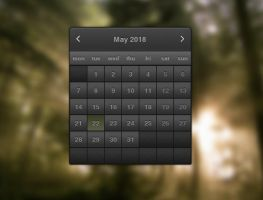 Dark Calendar for xwidget by Jimking