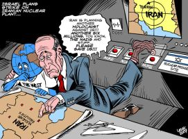 IsraHell plans nuclear strike by Latuff2