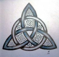 Blue Triquetra by LadyCelticRose